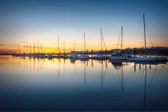 Blue Sky And Masts by Joe Chabot
