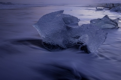 Blue Hour At Ice Beach by Tom Truss