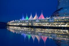 Canada Place Sails by Lorna Scott