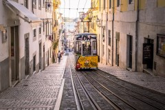 Funicular Fun In Lisbon by  Barbara Cameron