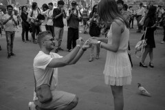 Asked in Italy,She Said Yes in French by  Rick Regamble