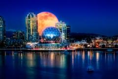 Super Moon Over Vancouver by Karen Reynolds