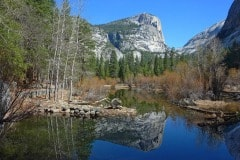 Mirror Lake At Yosemite National Park by  Kathy Burton
