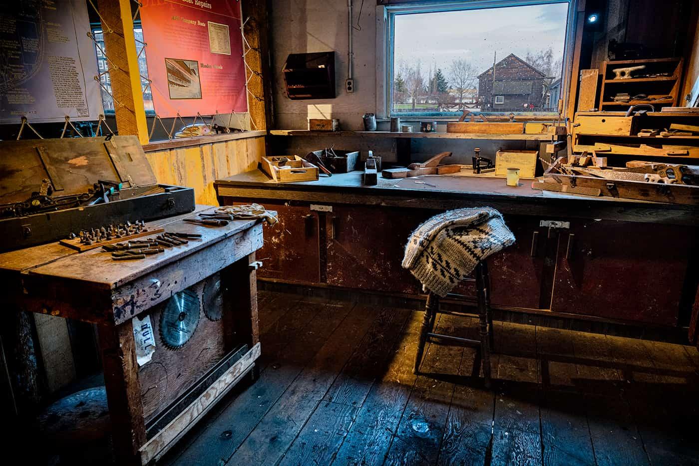 Woodshop At Britannia Shipyards by Craig Roberts