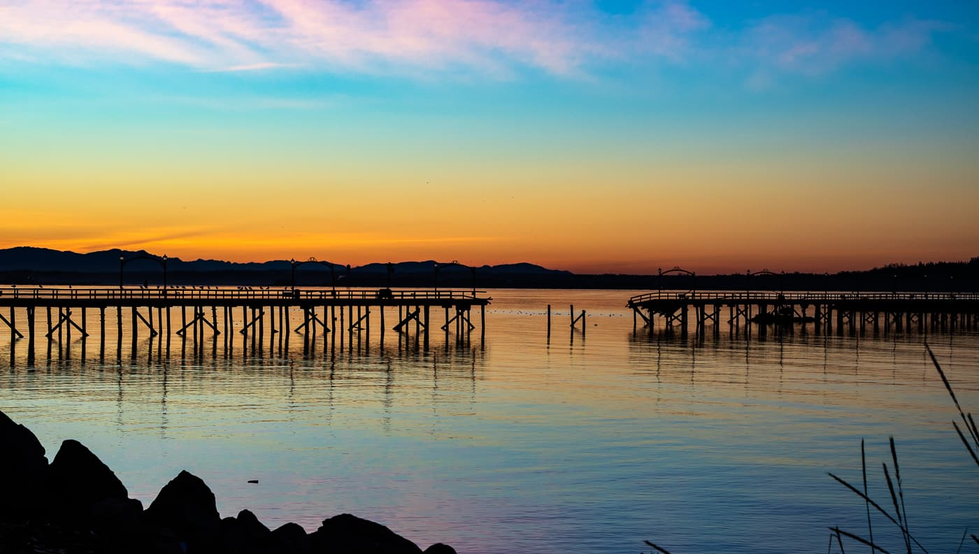 Blue Hour White Rock by Tom Keigher