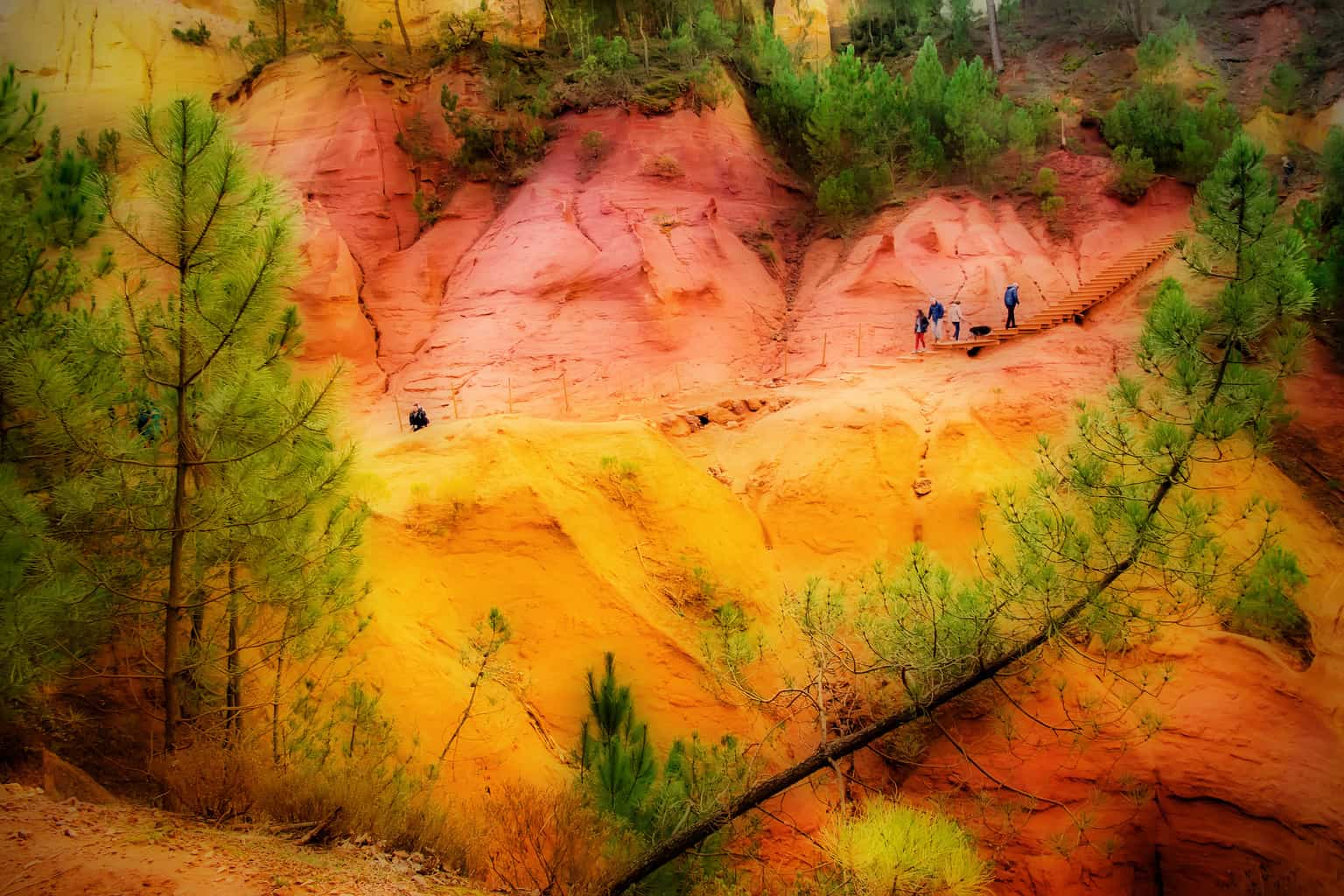 Ochre Formations, Provence by Arnold Richardson