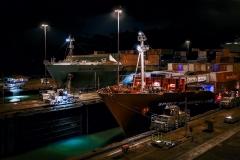 Panama Canal Night Passage by Joe Chabot
