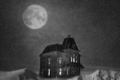 Snowing At Bates Motel by Jim Hatch