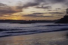 Sunset Over MacKenzie Beach Tofino by  Tom Truss