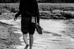 Barefoot Stroll by  Ken Stratychuk