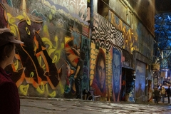 Nighttime In Hosier Lane by Bob Mcneill