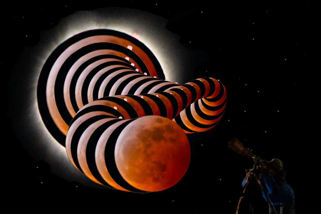 Lunar Solar Tiger Eclipses by Glenn Disney